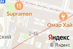 Схема проезда до компании На Колокольной в Санкт-Петербурге