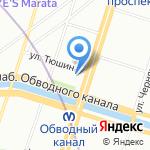 Лесбуммаш на карте Санкт-Петербурга