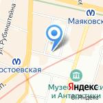 Абрис-Петербург на карте Санкт-Петербурга