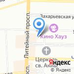 The Bear`s Beard BarberShop на карте Санкт-Петербурга
