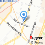 Грамма на карте Санкт-Петербурга