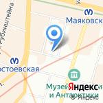 Стоматология на Колокольной на карте Санкт-Петербурга