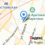N & S на карте Санкт-Петербурга