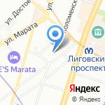 Артком на карте Санкт-Петербурга