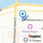 Почетное консульство Доминиканской Республики на карте Санкт-Петербурга