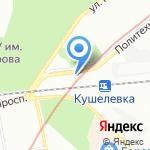 Втормет-Кушелевка на карте Санкт-Петербурга
