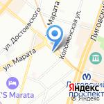 Доступная Стоматология на карте Санкт-Петербурга