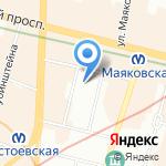 Ангелочек на карте Санкт-Петербурга