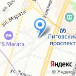 Средняя общеобразовательная школа №309 с дошкольным отделением на карте Санкт-Петербурга