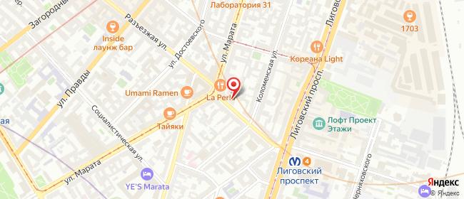 Карта расположения пункта доставки Санкт-Петербург Разъезжая в городе Санкт-Петербург