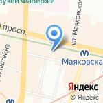 Visalite на карте Санкт-Петербурга