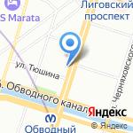 Табачный Капитан на карте Санкт-Петербурга