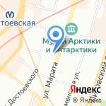 ДЭФО на карте Санкт-Петербурга