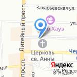 Белая Зависть на карте Санкт-Петербурга