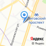Ателье по пошиву обуви Карины Манукян на карте Санкт-Петербурга