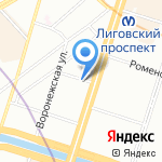 Nordhostel на карте Санкт-Петербурга