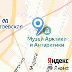 Смайл на карте Санкт-Петербурга