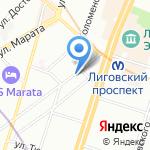 Технотекст на карте Санкт-Петербурга
