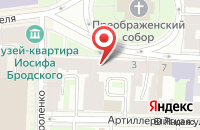 Схема проезда до компании Дакор в Санкт-Петербурге