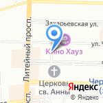 Гротеск на карте Санкт-Петербурга