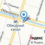 33 отдел Экспертно-криминалистического центра по Фрунзенскому району на карте Санкт-Петербурга