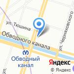 Городская психиатрическая больница №4 на карте Санкт-Петербурга