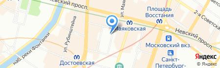 Верум-Недвижимость на карте Санкт-Петербурга