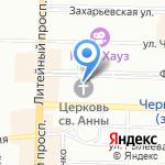 Часовня Фатимской Божьей Матери на карте Санкт-Петербурга