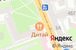 Схема проезда до компании Дитай в Санкт-Петербурге