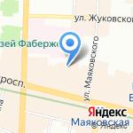 Aster Mini Hotel на карте Санкт-Петербурга