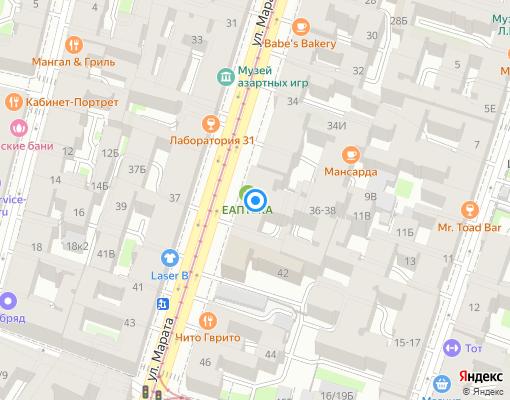 Товарищество собственников жилья «Марата 40» на карте Санкт-Петербурга