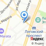 Кабаре на карте Санкт-Петербурга