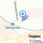 Скороход на карте Санкт-Петербурга