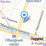 Храм Святых Кирилла и Мефодия на карте Санкт-Петербурга