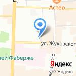 Crop на карте Санкт-Петербурга