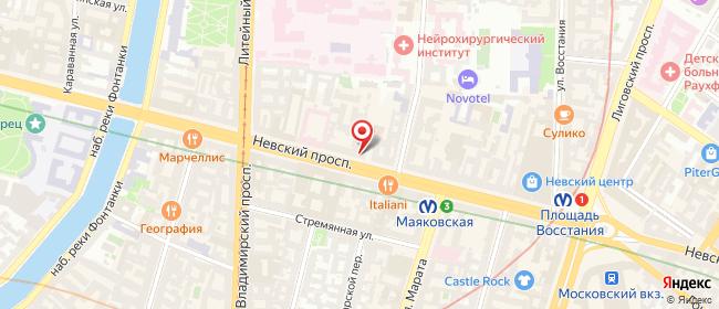 Карта расположения пункта доставки Санкт-Петербург Невский в городе Санкт-Петербург