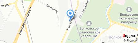 Шиномонтажная мастерская на Камчатской на карте Санкт-Петербурга