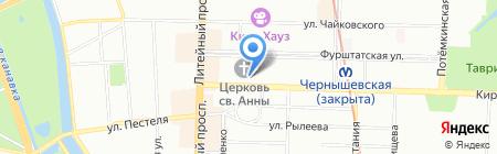 Рок-Остров на карте Санкт-Петербурга