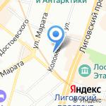 ПТА на карте Санкт-Петербурга