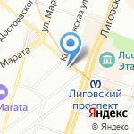 Чайный Остров на карте Санкт-Петербурга