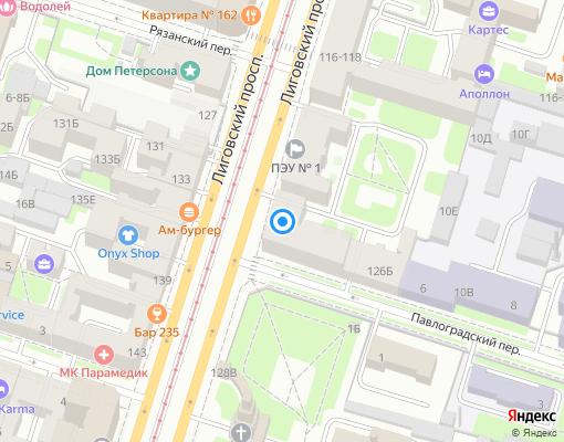 Товарищество собственников жилья «Кондоминиум №181» на карте Санкт-Петербурга