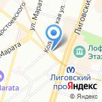 ПитерСервис на карте Санкт-Петербурга