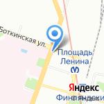 Северо-Плюс на карте Санкт-Петербурга