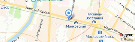 Амбассадор клуб путешествий на карте Санкт-Петербурга