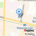 Палитра на карте Санкт-Петербурга