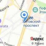 Фабрика молодежной одежды на карте Санкт-Петербурга