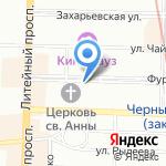Золотая Пинта на карте Санкт-Петербурга