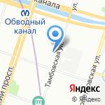 ПетроПрофТекстиль на карте Санкт-Петербурга