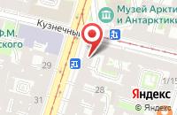 Схема проезда до компании Полиджет в Санкт-Петербурге