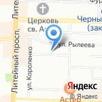 Территориальное Управление Федеральной службы финансово-бюджетного надзора в г. Санкт-Петербурге на карте Санкт-Петербурга